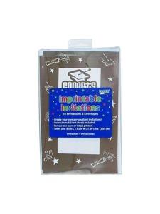 imprintable 10 pack invites 8.5 x 5.5 brown