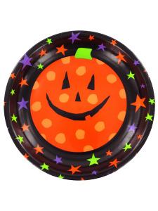 bowl plastic 6.5 in pumpkin