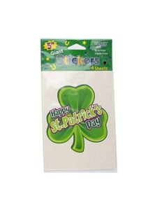 giant 5 in stickers 4 pk clover