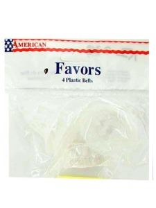 4 pack white bell favors