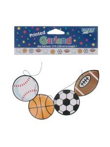 #1 sport printed garland