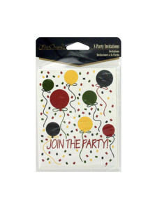balloons 8 count invitations/envelopes