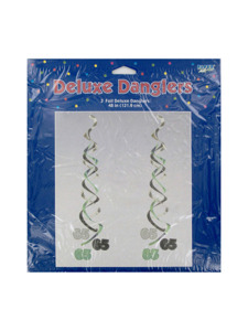 birthday 65 deluxe two foil danglers 48 inch