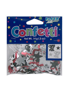 birthday streamer over the hill confetti mix .5 ounce bag