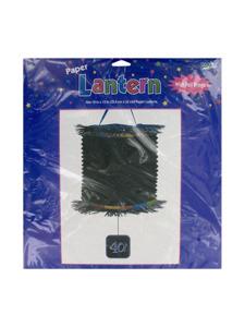 birthday 40th printed lantern with foil fringe 10 x 13 inch