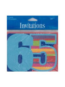 birthday stripes 65 8 count invites/envelopes