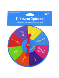 birthday stripes decision planner spinner with sticker sheet