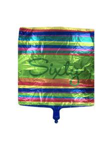 birthday stripes 60 metallic balloon