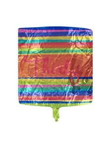 birthday stripes 30 metallic balloon