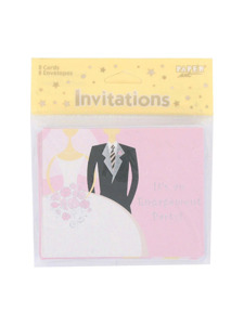 bride to be engagement party 8 count invitations/envelopes