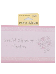 bride to be bridal shower photo album