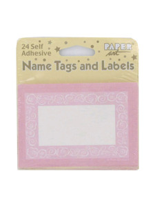 bride to be 24 count self adhesive name tags/labels