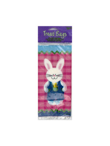 bunny collage 20 count treat bags 4 x 9 inch