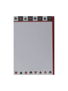card night notepad with pencil
