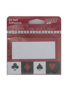 card night 24 count self adhesive name tags