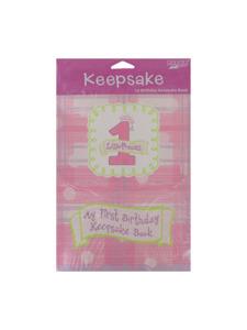 celebrate girl 1st birthday keepsake book