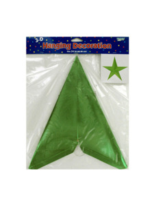 green star 3d hanging decoration 24 inch