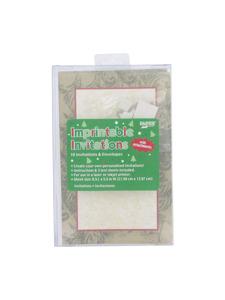 christmas foliage 10 count imprintable invites/envelopes