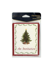 classic christmas 8 count invitations/envelopes