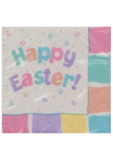 easter fun 16 count 9 7/8 x 9 7/8 napkins