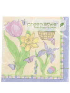 easter melody 20 count 9 7/8 x 9 7/8 inch napkins