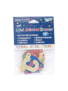 mini congratulations 22.4 inch foild jointed banner