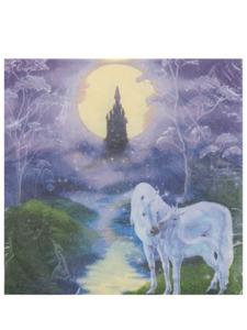 fairy tale unicorns 16 count 9 7/8 x 9 7/8 napkins