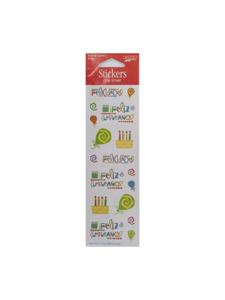 feliz cumpleanos one sheet stickers