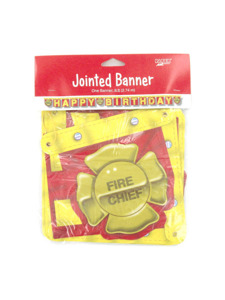 firefighter 9 ft jointed banner
