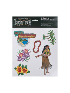 flora tropic 2 sheet decorative decals