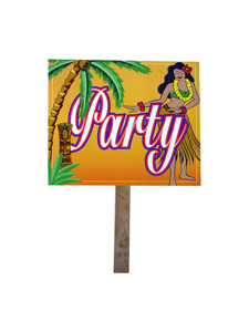 flora tropicana 2 sided party yard sign