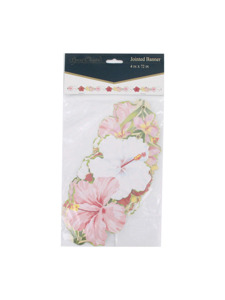 floral chic 4 x 72 inch jointed banner
