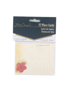 floral chic 12 count placecards 1.5 x 3.25 inch
