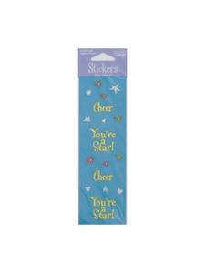girl time cheer sticker sheet