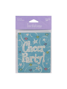 girl time cheer 8 count invitations/envelopes