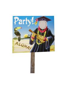 grad luau two sided yard sign