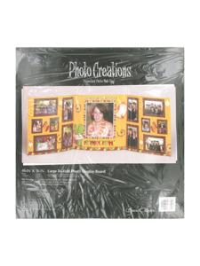 grad fiesta 46 x 16 inch large tri fold photo display board