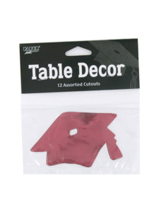 grad red hat 12 count table decor