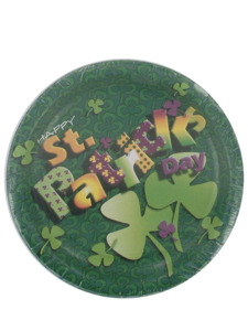 happy st patricks day 8 count 7 inch round plates