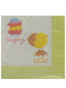 hatching chicks 20 count 9 7/8 x 9 7/8 inch napkins