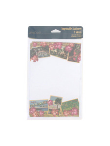 hawaii 8 count imprintable stationery sheets