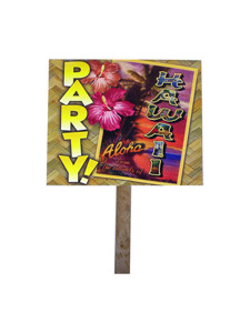 hawaii 2 sided party yard sign