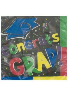 head of the class congrats grad 16 count 9 7/8x9 7/8 napkins