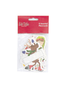 holiday fun winter 8 count assorted placecards