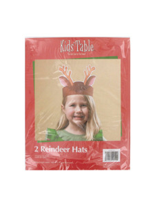 holiday fun 2 count reindeer hats