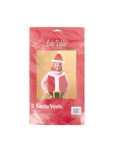 holiday fun 2 count santa vests