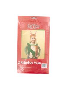 holiday fun 2 count reindeer vests