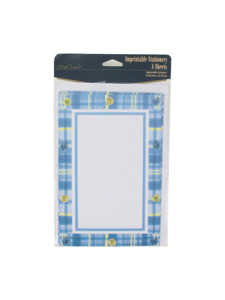 its a boy 8 count imprintable stationery sheets/envelopes