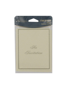 ivory & gold 8 count invitations/envelopes