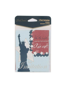 liberty 8 count party invitations/envelopes